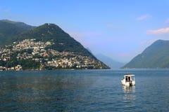 jeziora Lugano Obraz Stock