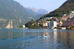 jeziora Lugano Obrazy Royalty Free