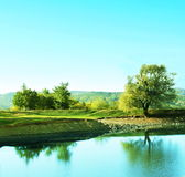 jeziora na krymie góry Fotografia Royalty Free