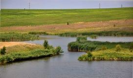 jeziora panoramiczny krajobrazowy Zdjęcie Stock