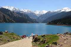 jeziora porcelanowy niebiański tianchi s Obraz Royalty Free