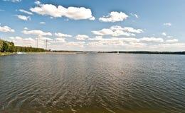 Jeziora Rybnicke rezerwat wodny blisko Rybnik miasta ja Polska Obraz Royalty Free