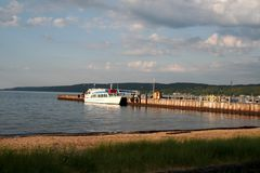 jeziora superior cumujący łodzi Obraz Royalty Free