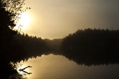 Jeziora właśnie outside Stockholm, Sweden Zdjęcie Stock