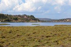 Jeziora w wsi Zdjęcie Stock