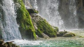 Jeziora z siklawą w Chorwacja, Europa Lokacja: Plitvice, parka narodowego Plitvicka jezera zdjęcie wideo