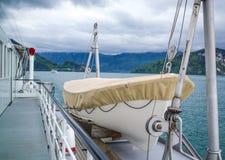 Jeziorna łódź Fotografia Royalty Free