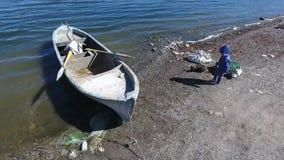 Jeziorna łódź zbiory