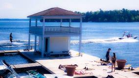 jeziorna akcja fotografia royalty free