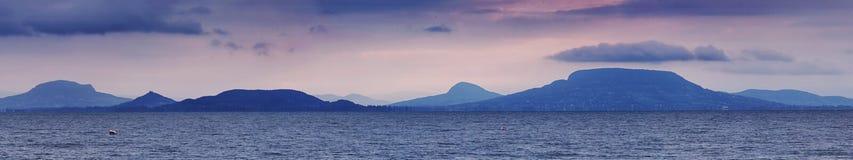 Jeziorna Balaton panorama Zdjęcia Royalty Free