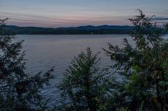 Jeziorna Bomoseen błękita godzina zdjęcia royalty free