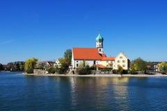Jeziorna Constance sceneria w Niemcy zdjęcie royalty free