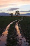 jeziorna droga Zdjęcie Stock