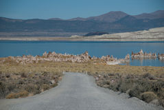 jeziorna droga Obrazy Royalty Free