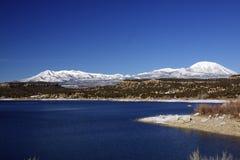 jeziorna halna zima Zdjęcia Royalty Free