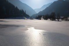jeziorna halna zima Zdjęcie Stock