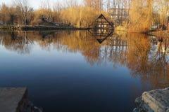 Jeziorna jesień Fotografia Royalty Free
