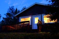 Jeziorna kabina w Ontario Zdjęcie Stock