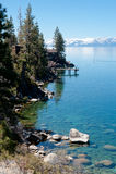 jeziorna linia brzegowa Zdjęcie Royalty Free