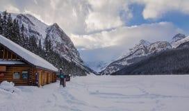 Jeziorna Louise kabina zdjęcie royalty free