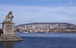 jeziorna miasto panorama Zurich Zdjęcia Stock
