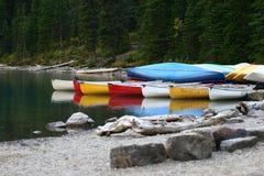 Jeziorna morena, Banff obraz royalty free