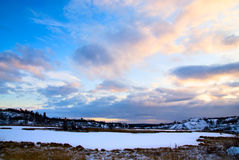 jeziorna północna zima fotografia royalty free