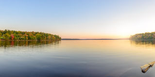 Jeziorna panorama Zdjęcie Royalty Free