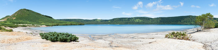 Jeziorna panorama horyzontalna Fotografia Stock