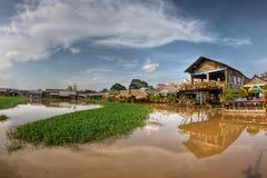 jeziorna penh phnom strona zdjęcia royalty free