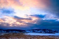 jeziorna północna zima Zdjęcia Royalty Free