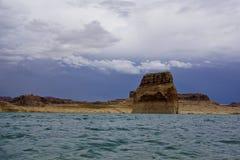 Jeziorna Powell kolumny wyspa zdjęcie royalty free