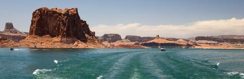 Jeziorna Powell wodniactwo panorama zdjęcie royalty free