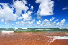 Jeziorna przełożony plaża obrazy royalty free