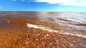 Jeziorna przełożony plaża zdjęcie wideo