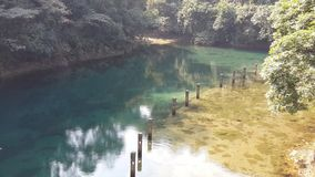 Jeziorna sceneria Chiny zdjęcia royalty free