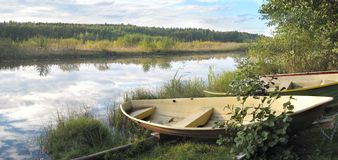 Jeziorna scenerii panorama Zdjęcia Stock