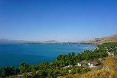 Jeziorna Sevan sceneria fotografia stock