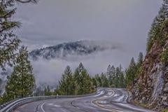 Jeziorna Tahoe droga Obrazy Stock