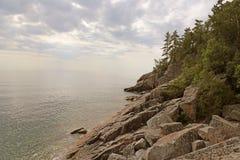 Jeziorna Wyższa linia brzegowa Obrazy Royalty Free