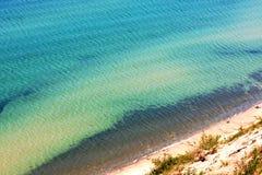 Jeziorna Wyższa turkus woda Zdjęcia Royalty Free