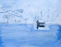 jeziorna zima Zdjęcia Royalty Free
