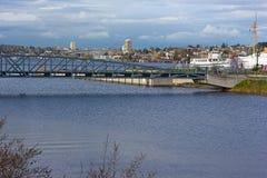 Jeziorna Zrzeszeniowa panorama po tym jak deszcz, Seattle, Waszyngton, usa Obraz Stock
