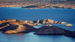 Jeziorne dwójniak wyspy - antena Obraz Royalty Free