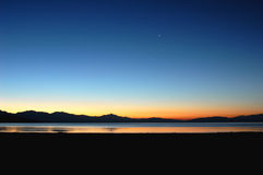 jeziorne góry Tibet Zdjęcia Royalty Free