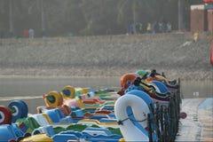 Jeziorne łodzie Obrazy Royalty Free