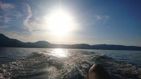 Jeziorne łodzie Obrazy Stock