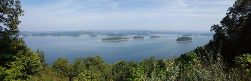 Jeziorne wyspy Zdjęcie Royalty Free