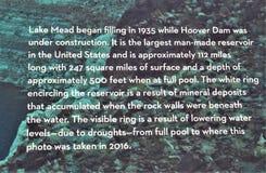Jeziornego dwójniaka Rekreacyjny teren, służby parku narodowego, Stany Zjednoczone wnętrze dział, Arizona Nevada zdjęcie stock