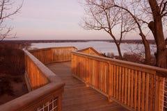 jeziornego macatawa sceniczny widok Zdjęcia Royalty Free